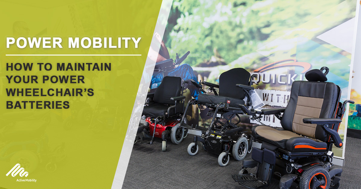 How To Maintain Your Power Wheelchair's Batteries