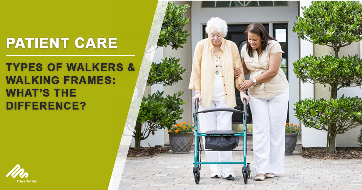 Types of walkers & walking frames: what's the difference?